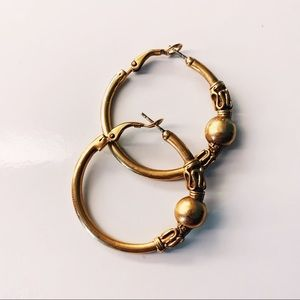 Elaborate Copper Hoops